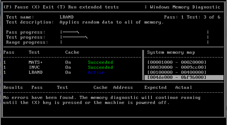 Microsoft Windows Memory Diagnostic